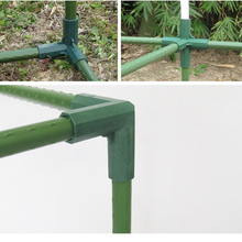 Plant Awning Connector Pillar Fittings Plastic Steel Pipe Vine Frame Greenhouse Bracket Assembly Connecting Parts Garden Tools