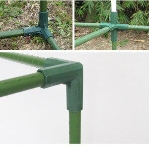 Image 1 - Plant Luifel Connector Pijler Fittings Plastic Staal Pijp Wijnstok Frame Kas Beugel Montage Aansluiten Onderdelen Tuingereedschap