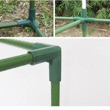 Vật Có Bạt Phủ Cổng Kết Nối Trụ Cột Phụ Kiện Nhựa Ống Thép Cây Nho Khung Nhà Kính Chân Đế Lắp Ráp Nối Phần Dụng Cụ Làm Vườn