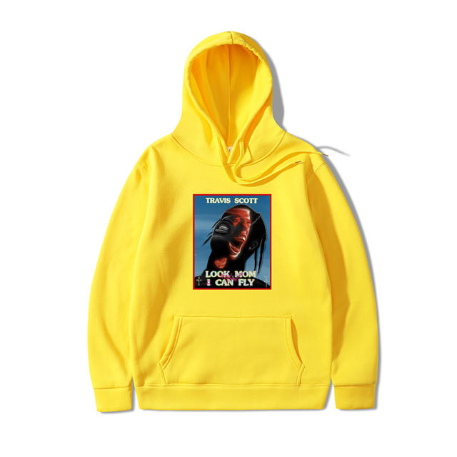 TRAVIS SCOTT LOOK MOM I CAN FLY THEMED HOODIE