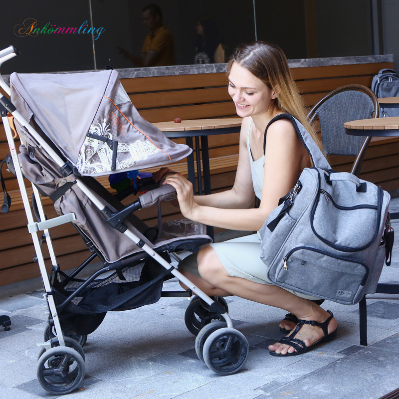 New Style Diaper Bag Multi-functional MOTHER'S Bag Fashion Mommy Bag Feeding Bottle Backpack Aiaper Backpack