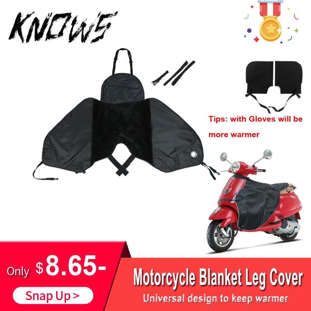 Motorcycle Blanket Knee Warmer Leg Cover For Scooters Rain Wind Protection Waterproof Winter Quilt Thick Warmer Gloves Universal