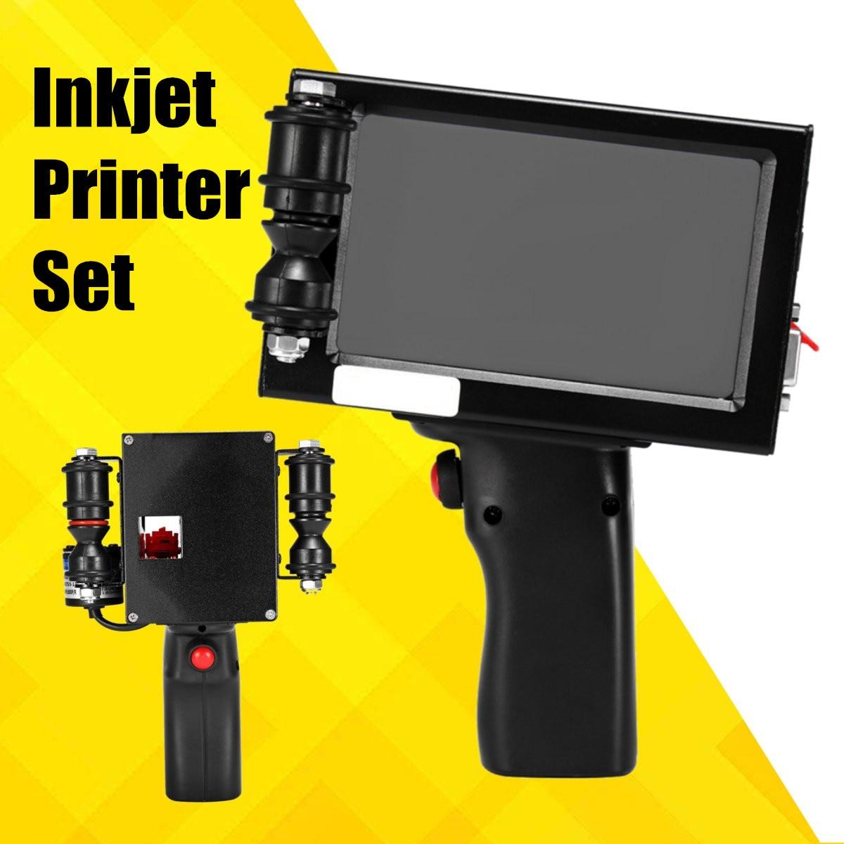 600DPI Label Printer LED Screen Intelligent Inkjet Printer Handheld Spray Coding Machine Portable Bar QR Code Inkjet Printer