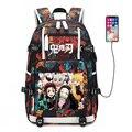 Demon Slayer: Kimetsu no Yaiba женский рюкзак аниме Bookbag нейлоновые школьные сумки большой дорожный рюкзак унисекс рюкзак для ноутбука