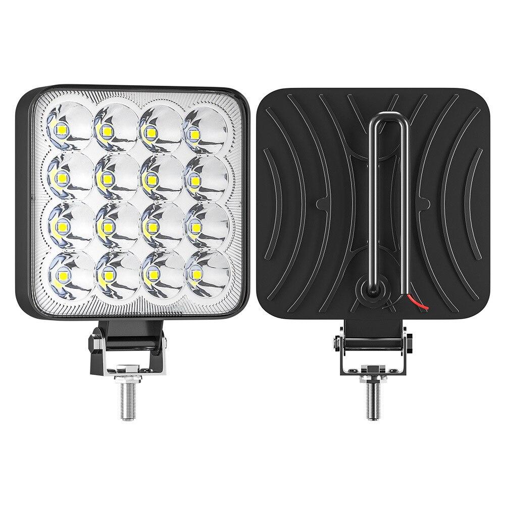 Новый автомобиль Рабочий светильник 48 Вт 16LED 12/ 24 V Точечный светильник квадратный COB светодиодные чипы для внедорожных мотоциклов грузовико...