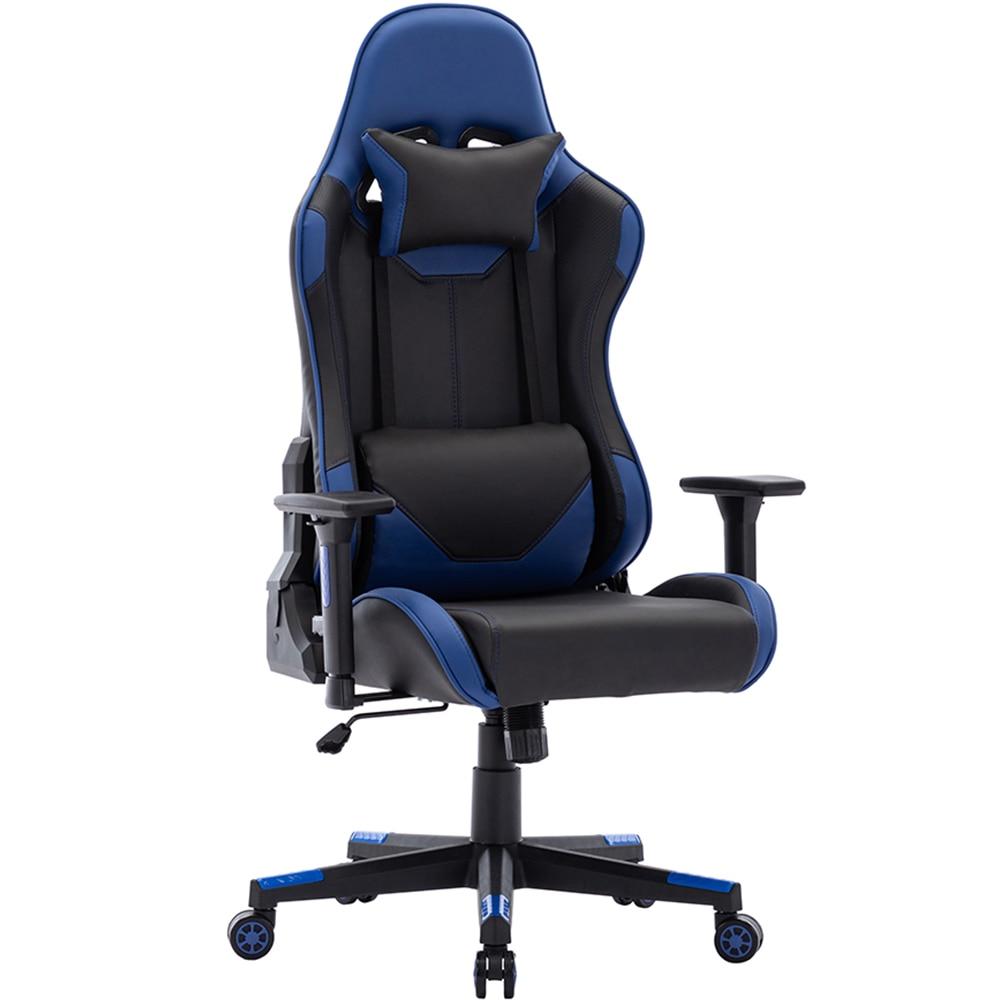 Jogo cadeira de escritório de 180 graus reclinável cadeira de computador confortável assento de computador executivo corrida motorista reclinável cadeira de jogo plutônio l