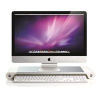 Laptop Stand Monitor Space Bar Stand Non slip Desk Riser EU US Plug with 4 USB Ports for iMac MacBook Computer Laptop Gadgets