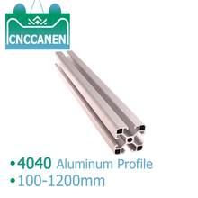 Extrusión de perfil de aluminio 4040, 4040, 100-1200mm de longitud, guía anodizado de riel estándar europeo para piezas de impresora 3D CNC DIY, 1 ud.