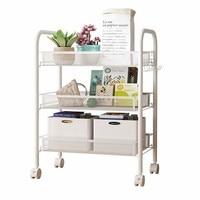 Kitchen Shelf Storage Trolley Bedroom Floor Multi-layer Pulley Movable Balcony Shelf