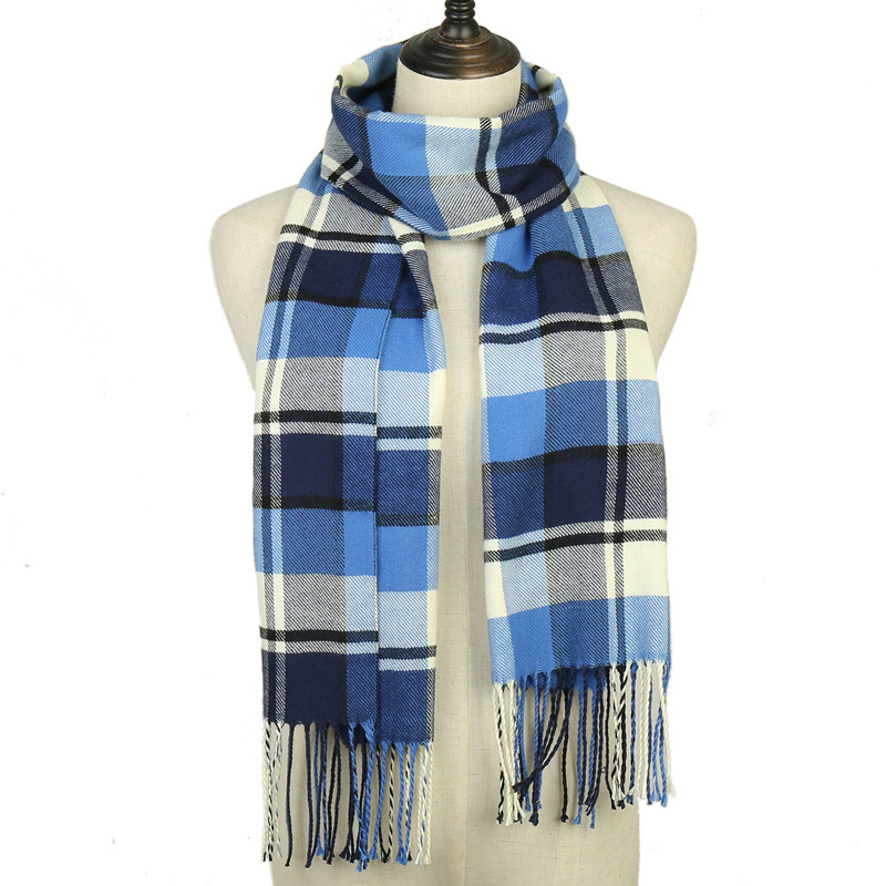2019 winter men plaid scarf cashmere scarves for women echarpe foulard femme long wool pashmina sjaal shawls business scarf