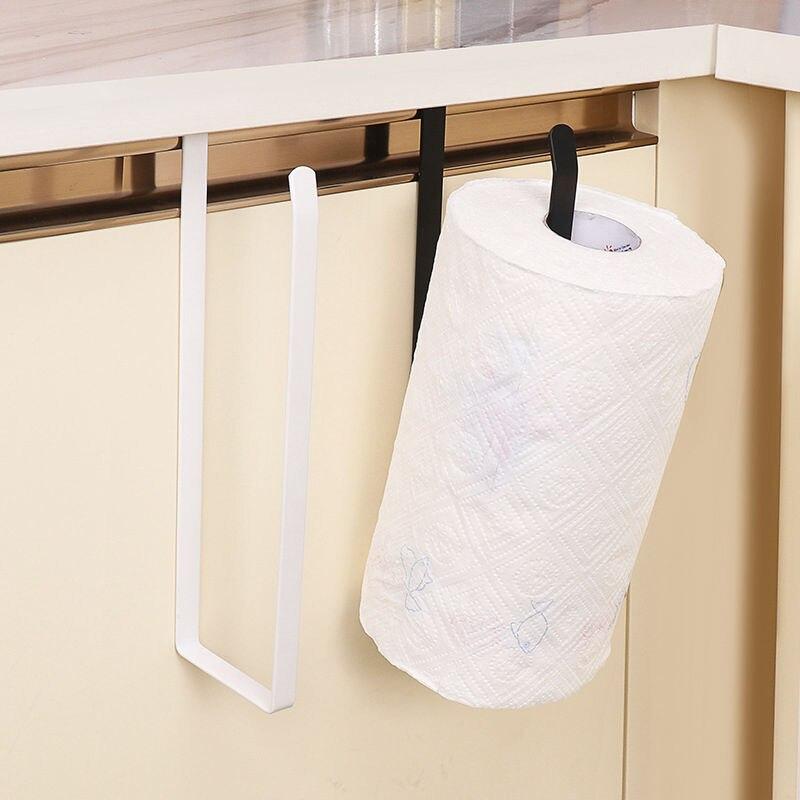 Кухня ткань держатель ванная комната туалет бумага держатель кухня шкаф дверь ящик для хранения кронштейн шкаф свежее хранение сумка хранение