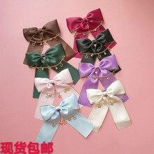 Мягкие японские милые заколки для волос в стиле Лолиты для девочек, заколка для волос с бантом, колокольчиками и звездами, аксессуары для косплея, женские аксессуары для волос, боковая заколка