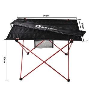 Image 4 - נייד מתקפל שולחן פיקניק שולחן אוכל חיצוני Ultralight שחור גבוהה כיתה שולחן שולחן 7075 אלומיניום סגסוגת קמפינג שולחן