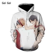 Fashion 3D Digital Print One Piece hoodies pullover men women kids creative animation characters autumn winter sports hoodie
