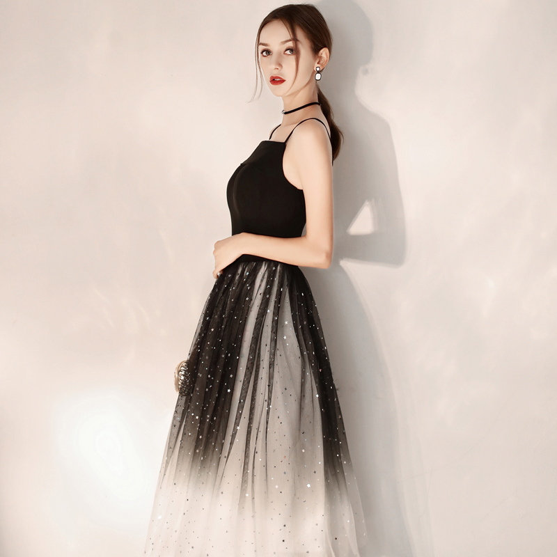 LAMYA Simple Back Mixcolor Prom Dresses Boat Neck Evening Party Dress Princess Knee Length A Line Tulle Special Occasion Dress