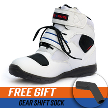 3 colors Moto Motorcycle protective gear Boots Motocross Botas Motorboats Shoes Motorbike Racing Career Speed street boots