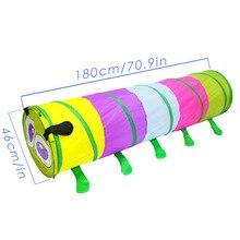 Kinder Bis 5-Farbe Raupe Tunnel Rohr Spielen Zelt Indoor/Outdoor Spielzeug