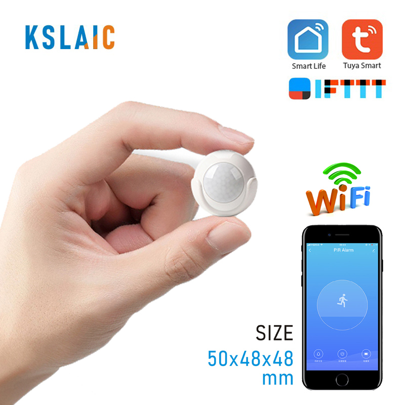 KSLAIC Wifi PIR Motion Sensor Body Movement Wireless Infrared Detector Smart APP Control Home Security Burglar Alarm Sensor
