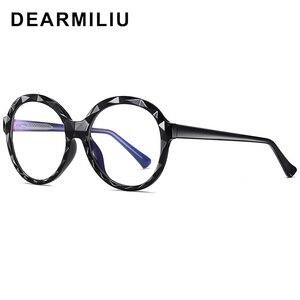 Image 5 - DEARMILIU 2020 New Womens Blue Light Blocking Glasses Round Frame Classic Flat Mirror Reading Computer Eyeglasses Lunettes