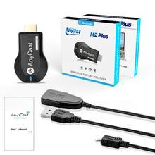 Anycast m2 mais miracast tv vara adaptador receptor wi-fi dongle chromecast sem fio 1080p para ios andriod