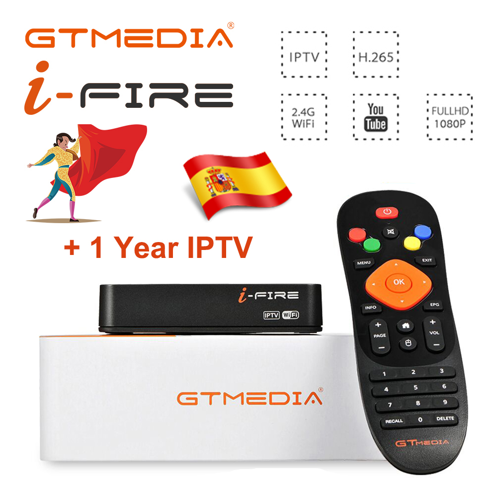 Neue Ankunft GTmedia IFIRE IPTV Box 4K HDR STB BOX Ultra HD 1080P WIFI Xtream IPTV Stalker IPTV youtube Media Player Internet