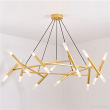Ceiling-Chandeliers Nordic Branches Led-Decoration Bedroom Modern-Design Tree Fashion