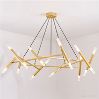 Nordic Fashion Tree Branches Ceiling Chandeliers LED Decoration Modern Design indoor For Bedroom Dining Room mini Chandelier