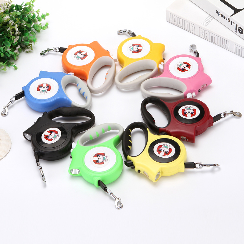 Pet Supplies Dog Hand Holding Rope Automatic Stretching Dog Light Included Night Dog Lamp Dog Maker