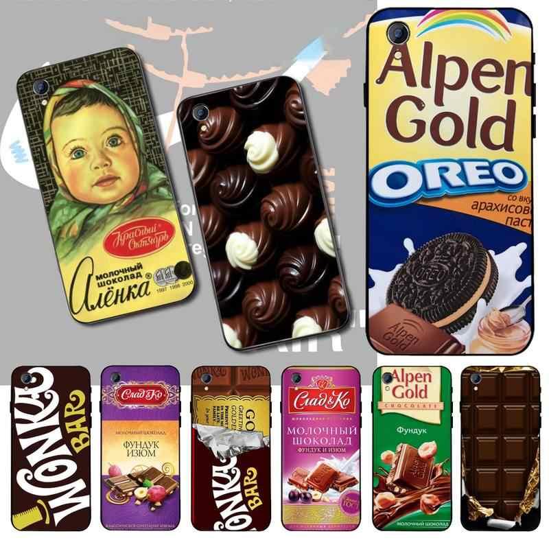 NBDRUICAI Alenka וונקה שוקולד בר טלפון מקרה עבור Vivo Y91c Y17 Y51 Y67 Y55 Y93 Y81S Y19 Y7S מקרה
