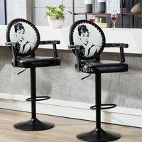 Europa Criativa Bar Fezes Moderno Bar Cadeiras de Alta Fezes Bar Cadeira com Apoio de Braço Ajustável em Altura Cadeiras de Recepção de Cash Register