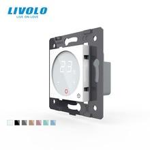 Controle de temperatura padrão da ue do termostato livolo (sem painel de vidro), dispositivo de aquecimento, ac 110 250v, C7 01TM 11