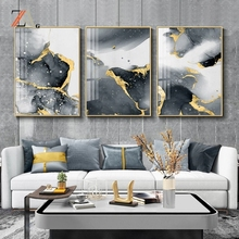 Modern abstract light luxury art creative ink gold line poster gold black wall art painting Nordic posters  wall decoration