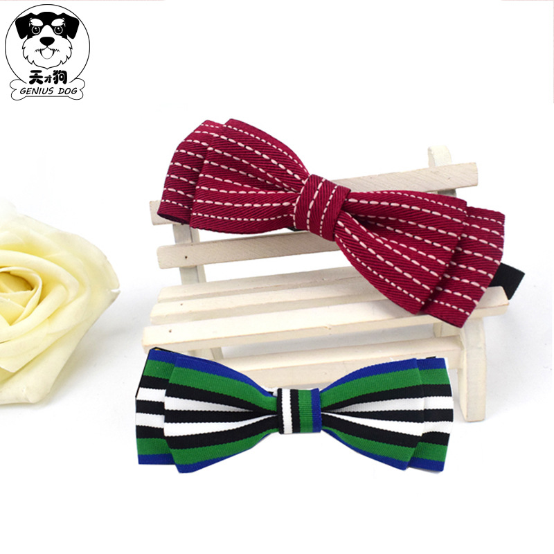 Tiancai Dog New Style Korean-style Gentleman Pet Tie Small Dogs And Cats Bow Neck Ring Poodle Dog Neck Ring Accessories