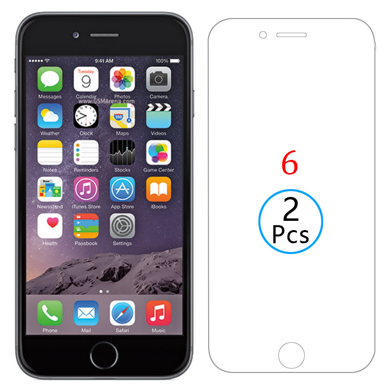 2pcs protective glass for iphone 6 screen protector tempered glas on i phone 6 <font><b>film</b></font> <font><b>iphone6</b></font> 4.7 aphone aiphone iphon iphoe iphne image