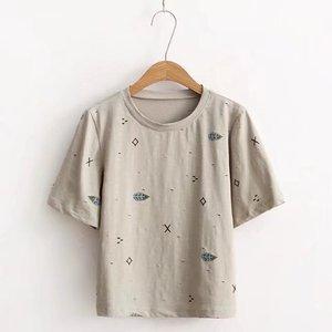 Новая женская футболка из хлопка с круглым вырезом, летняя стильная женская футболка, модная женская забавная одежда