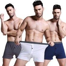 Best price cotton healthy men's boxer shorts solid color pants men's underwear b