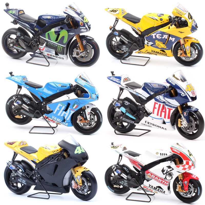 Kids 1/18 Scale LEO Mini YAMAHA YZR-M1 World Championship Honda Motorcycle Diecast Vehicles Model Racer Moto Bike Toys Miniature