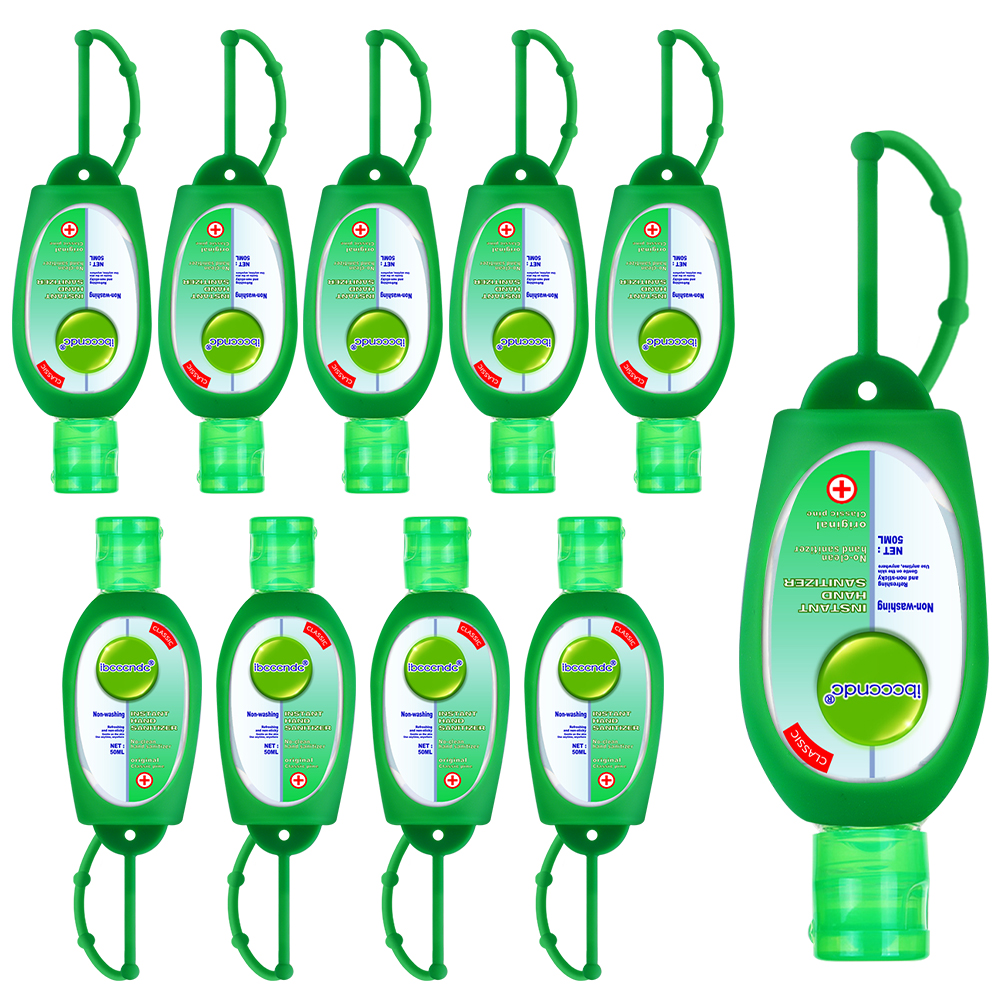 10 Pcs Alcohol Hand Sanitizer Gel Disposable Disinfecting Hand Wash Gel Anti Bacteria Waterless Hand Soaps Sanitizer with Case