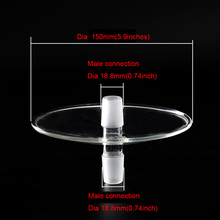 1 pc dia male glass ash tray for lavoo series hookah shisha narguile chicha bowl sisha plate cachimba parts
