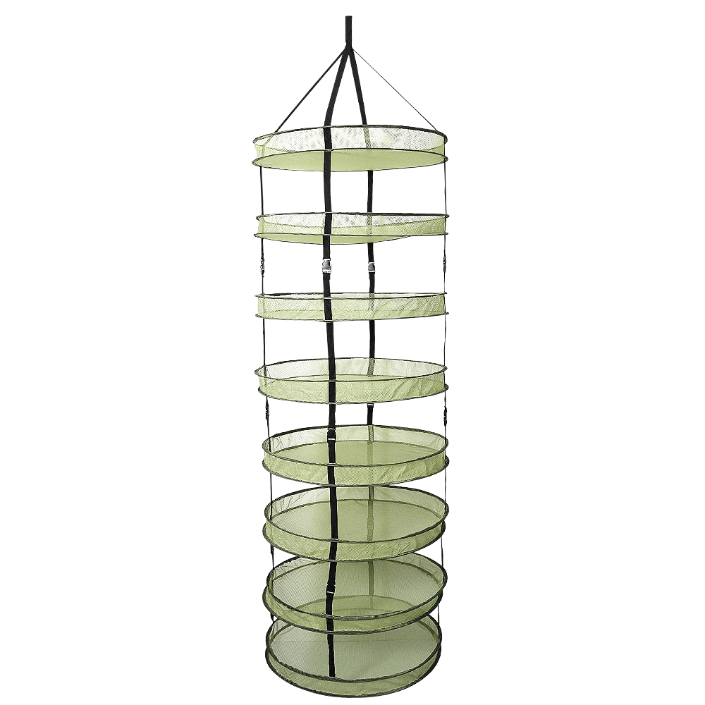 2ft 2/ 4/ 6/ 8 Layer Clip On Hanging Herb Buds Dry Net Detachable Collapsible Mesh Hydroponics Drying Rack Net For Plants
