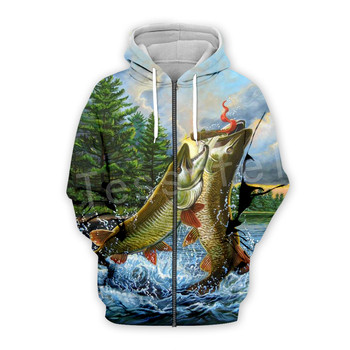 Tessffel New Fashion Animal Deep Fishing Harajuku casual Tracksuit Funny 3DPrint zipper/Hoodie/Sweatshirt/Jacket/Men/Women s-9 2