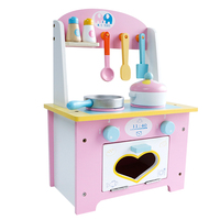 Children's Kitchen Cooking Set Pretend Play Toy Cute Pink Mini Kitchen Learning & Education Wooden Cooking Set Toy For C