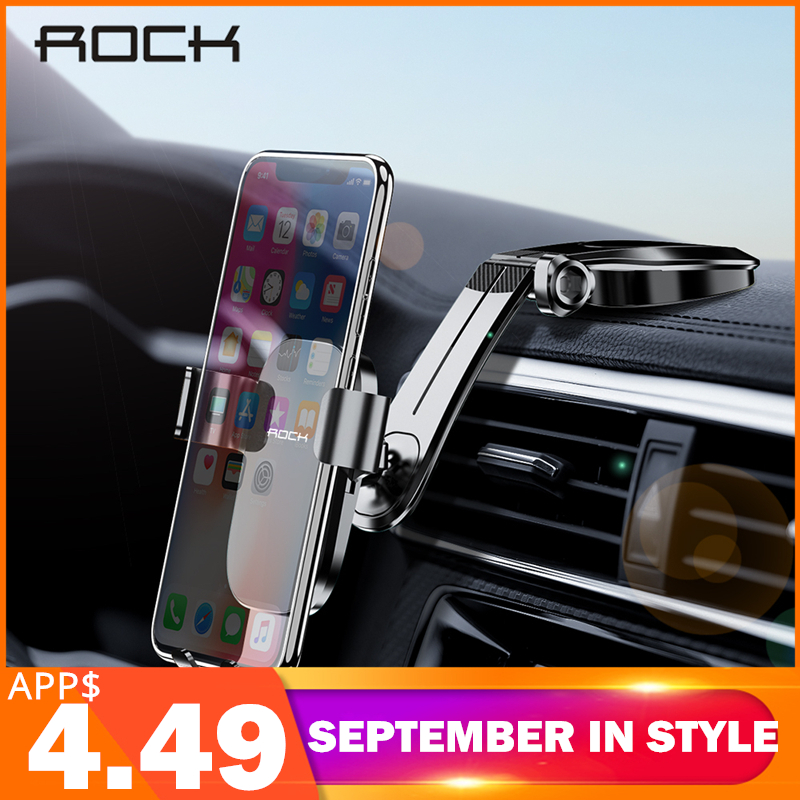 ROCK Foldable Car Phone Holder For IPhone X XS Samsung Huawei Gravity Dashboard Paste Mobile Phone Stand Universal Smartphone