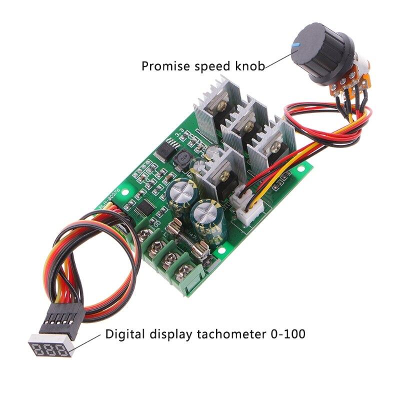 High power 30A DC Motor adjust Speed Control Controller PWM Module12V 24V 60V72V