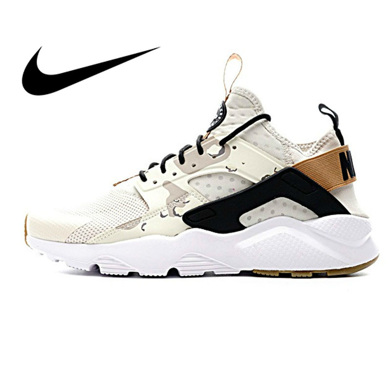Original Authentic NIKE AIR HUARACHE RUN ULTRA Men's Running Shoes Sneakers Sport Outdoor Athletic Designer 2018 New 752038