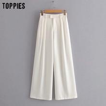 summer loose wide leg pants black white
