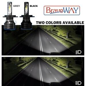 Image 2 - BraveWay LED Car Light H4 H7 H8 H11 9005 9006 H1 BH3 BH4 Headlamp 12000LM 6500K 80W 12V LED Bulb for Auto Led Headlight for Cars