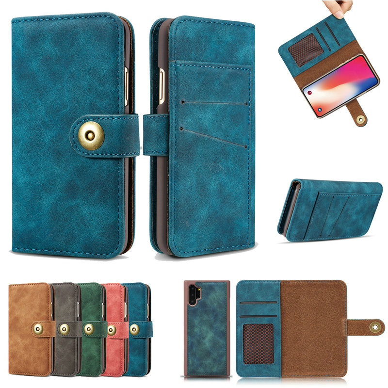 2 IN 1 Detachable Wallet for Coque <font><b>Samsung</b></font> Note 10 Plus <font><b>Case</b></font> S10 5G S9 S8 <font><b>S7</b></font> Edge Flip Etui for <font><b>Samsung</b></font> <font><b>Galaxy</b></font> Note 9 8 Note10 image