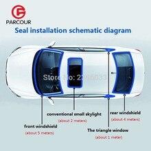 1meter3M клейкая уплотнительная полоса уплотнитель авто автомобиль водонепроницаемый резиновое уплотнение полоса отделка переднее заднее лобовое стекло люк треугольное окно