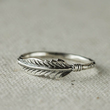 2019 Silver Color Rings For Women And Men Vintage Thai Feather Jewelry Ring Lover Best Gifts US size 6.7.8.9.10